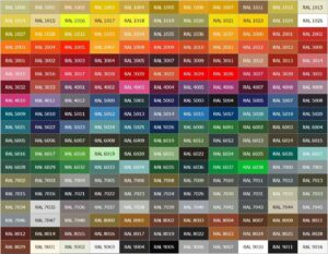 Любой цвет RAL - по Вашему выбору